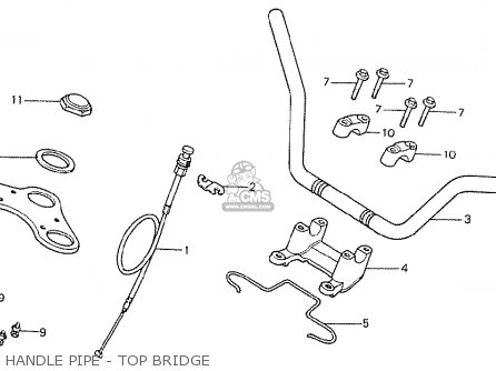 Honda Cb400ti 1978 Canada Handle Pipe - Top Bridge