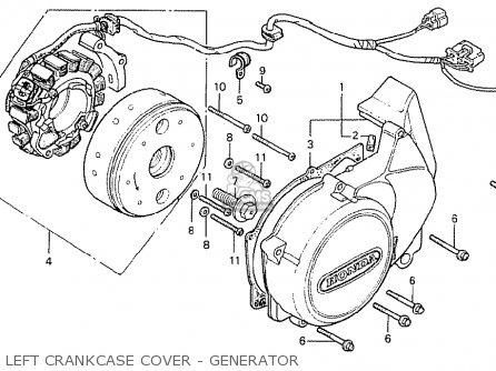 Honda Cb400ti 1978 Canada Left Crankcase Cover - Generator