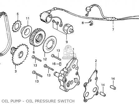 Honda Cb400ti 1978 Canada Oil Pump - Oil Pressure Switch