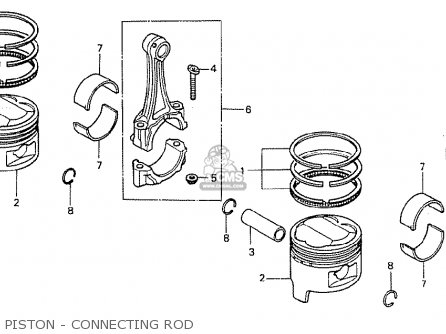 Honda Cb400ti 1978 Canada Piston - Connecting Rod