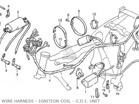 Honda Cb400ti 1978 Canada Wire Harness - Ignition Coil - C d i  Unit