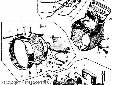 Honda Cb450 Super Sport 450 Black Bomber 1965 Cb450k0 Usa Headlight   Speedometer    Tachometer