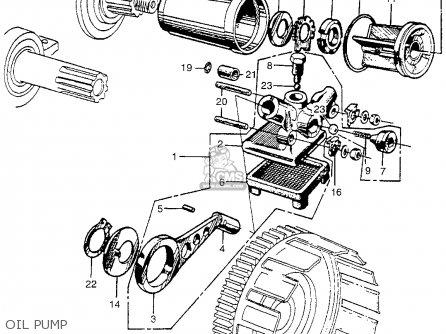 Honda Cb450 Super Sport 450 Black Bomber 1965 Cb450k0 Usa Oil Pump
