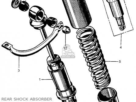 Honda Cb450 Super Sport 450 Black Bomber 1965 Cb450k0 Usa Rear Shock Absorber