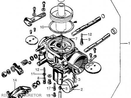 Honda Cb450 Super Sport 450 Black Bomber 1965 Cb450k0 Usa Right Carburetor