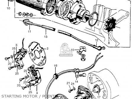 Honda Cb450 Super Sport 450 Black Bomber 1965 Cb450k0 Usa Starting Motor   Points