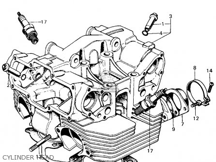 Honda Cb550k Engine Diagram