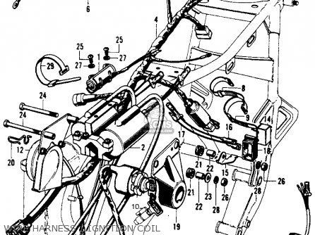 Honda Cb Super Sport K Usa Wire Harnessignition Coil Mediumhu F Cf on Honda Motorcycle Ignition Wiring Diagram