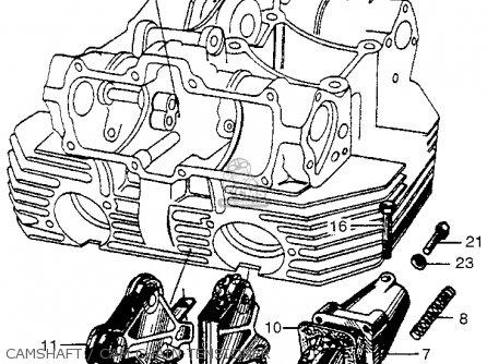 Honda Cb450k0 Black Bomber 1965 Usa Camshaft   Cam Chain Tensioner