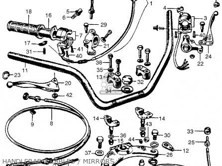 Honda Cb450k0 Black Bomber 1965 Usa Handlebar   Cables   Mirrors