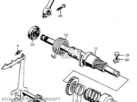 Honda Cb450k0 Black Bomber 1965 Usa Kick Starter   Gearshift