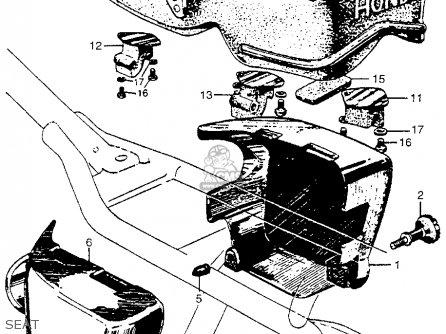 Honda Cb450k0 Black Bomber 1965 Usa Seat