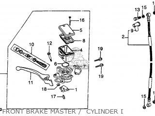 Honda Cb450sc Nighthawk 1982 c Usa Front Brake Master    Cylinder I