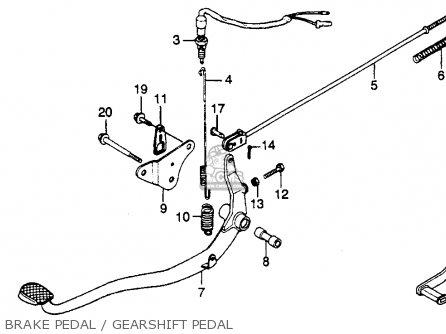 Honda Cb450sc Nighthawk 1985 f Usa California Brake Pedal   Gearshift Pedal