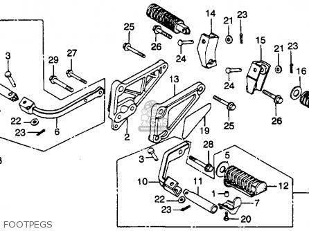 Honda Cb450sc Nighthawk 1985 f Usa California Footpegs