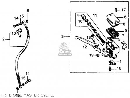 Honda Cb450sc Nighthawk 1985 f Usa California Fr  Brake Master Cyl  Ii