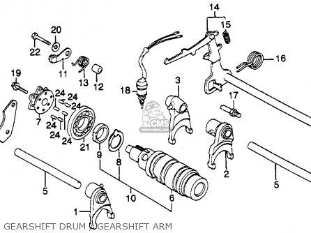Honda Cb450sc Nighthawk 1985 f Usa California Gearshift Drum   Gearshift Arm