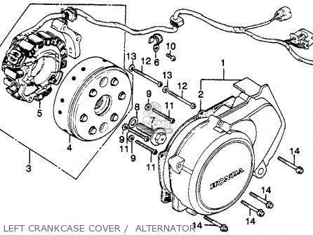 Honda Cb450sc Nighthawk 1985 f Usa California Left Crankcase Cover    Alternator