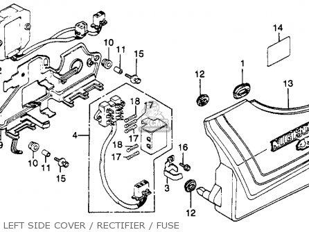 Honda Cb450sc Nighthawk 1985 f Usa California Left Side Cover   Rectifier   Fuse