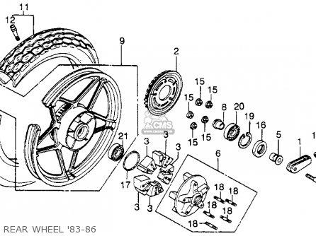 Honda Cb450sc Nighthawk 1985 f Usa California Rear Wheel 83-86