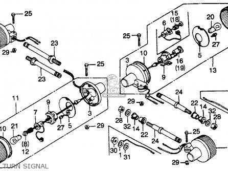 Honda Cb450sc Nighthawk 1985 f Usa California Turn Signal