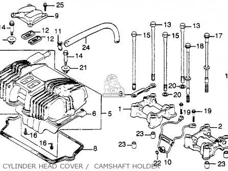 Honda Cb450sc Nighthawk 1985 f Usa Cylinder Head Cover    Camshaft Holder