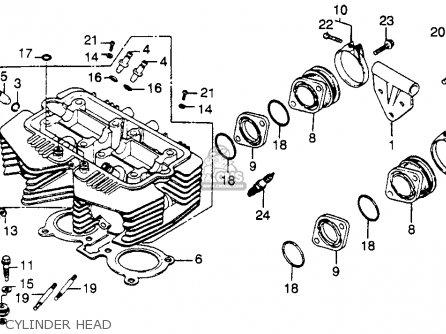 Honda Cb450sc Nighthawk 1985 f Usa Cylinder Head