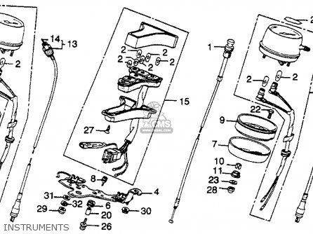 Honda Cb450sc Nighthawk 1985 f Usa Instruments