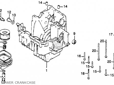 Honda Cb450sc Nighthawk 1985 f Usa Lower Crankcase