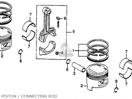 Honda Cb450sc Nighthawk 1985 f Usa Piston   Connecting Rod