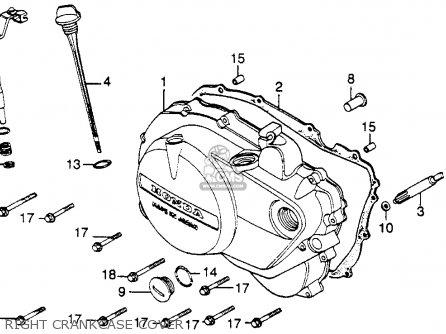 Honda Cb450sc Nighthawk 1985 f Usa Right Crankcase Cover