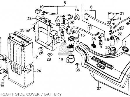 Honda Cb450sc Nighthawk 1985 f Usa Right Side Cover   Battery