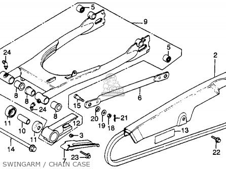 Honda Cb450sc Nighthawk 1985 f Usa Swingarm   Chain Case