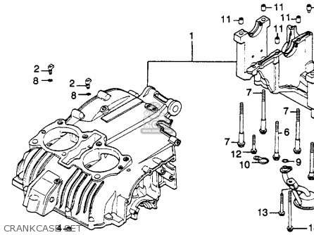 Honda Cb450sc Nighthawk 450 1985 Usa Crankcase Set