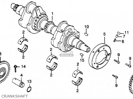 Honda Cb450sc Nighthawk 450 1985 Usa Crankshaft