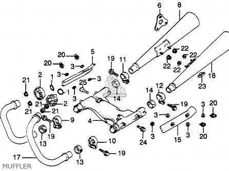 Honda Cb450sc Nighthawk 450 1985 Usa Muffler
