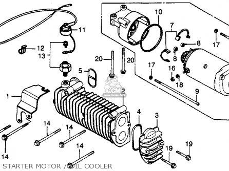 Honda Cb450sc Nighthawk 450 1985 Usa Starter Motor   Oil Cooler