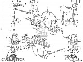 Honda Cb500 Four K0 general Export Carburetor