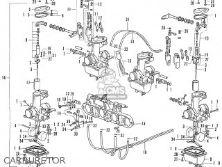 Honda Cb500 Four K1 general Export Carburetor