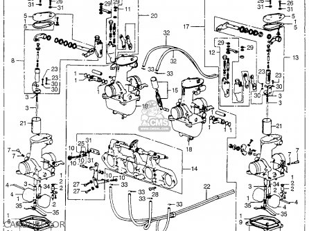 Honda Cb550 Four 1975 Cb550k0 Usa Parts Lists And Schematics
