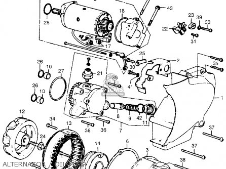 Honda Cb550 K1 Four 1975 Usa Parts Lists And Schematics