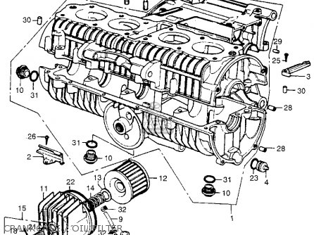 Honda Cb K Four Usa Crankcaseoil Filter Mediumhu E A Cf on Exploded View Diagram Engine Color