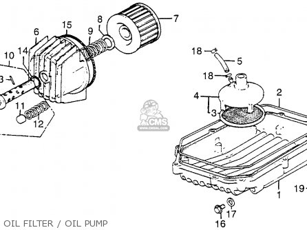 For Honda CB 550 F2 'Super Sport Four' Oil Filter 1977 Engines ...