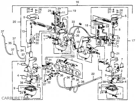 honda cb125 wiring diagram honda cb550f super sport 550 four 1975 cb550fk0 usa parts ...