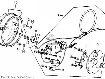 honda cb550f wiring diagram honda cb550f super sport 550 four 1975 cb550fk0 usa parts ... #12
