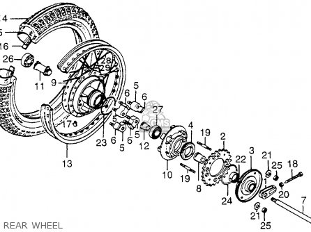 Diagram Of Disk Numbers on 1976 Honda 550 Four Parts