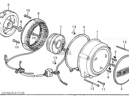 Partslist on 1976 Honda 550 Four Parts