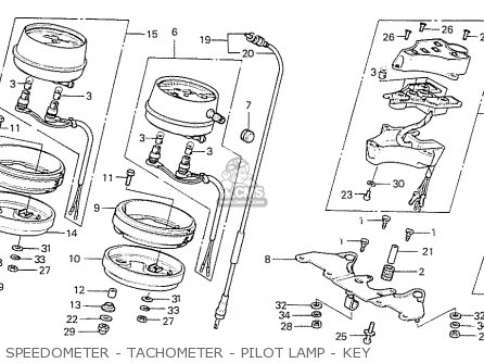 Partslist on 1977 Honda Cb 550 Four