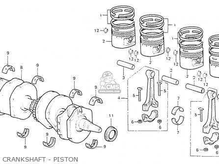Honda Cb550f2 Super Sport 550 Four 1977 germany Crankshaft - Piston
