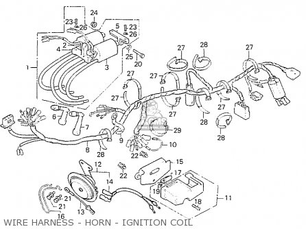 Honda Cb550f2 Super Sport 550 Four 1977 germany Wire Harness - Horn - Ignition Coil